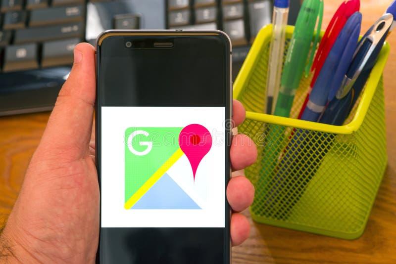 Google Maps imagenes de archivo