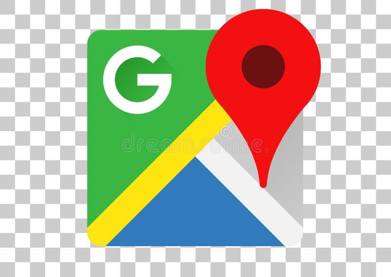 Google maps apk icon. Vector design of mobile app brand with trademark logo