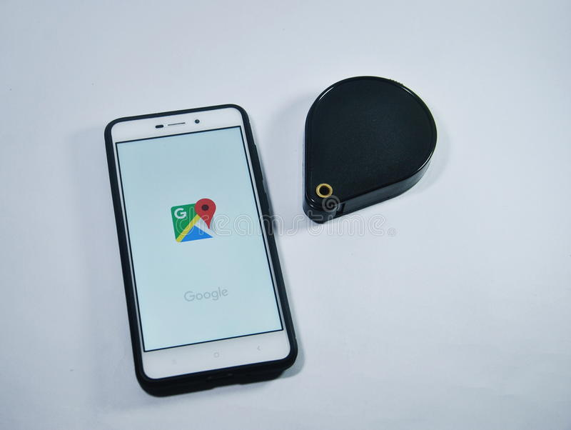Google Maps Application royalty free stock photography