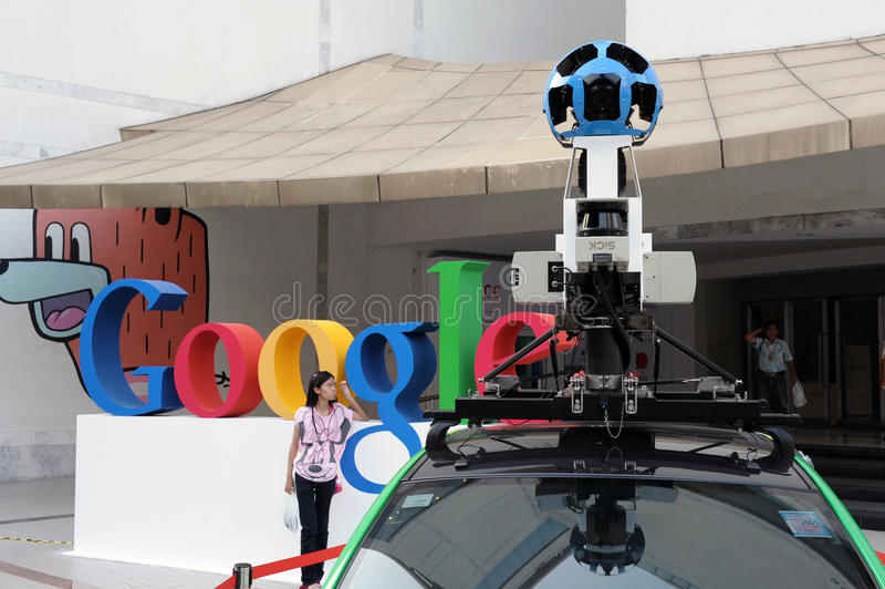Google Maps Car in Bangkok stock image