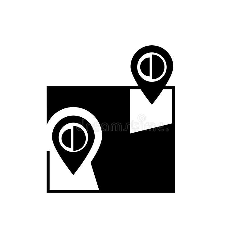 Google maps icon vector isolated on white background, Google maps sign , navigation symbols royalty free illustration