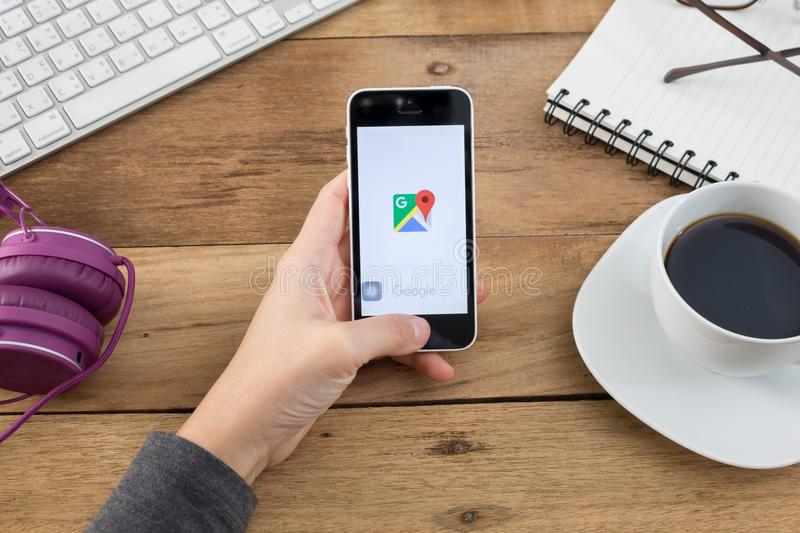 Google Maps for Mobile was releas royalty free stock photography