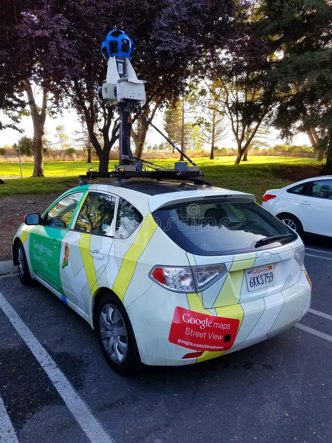 Google Maps pojazd obraz royalty free