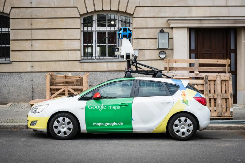 Google maps / Google Street view car with 360° camera stock images