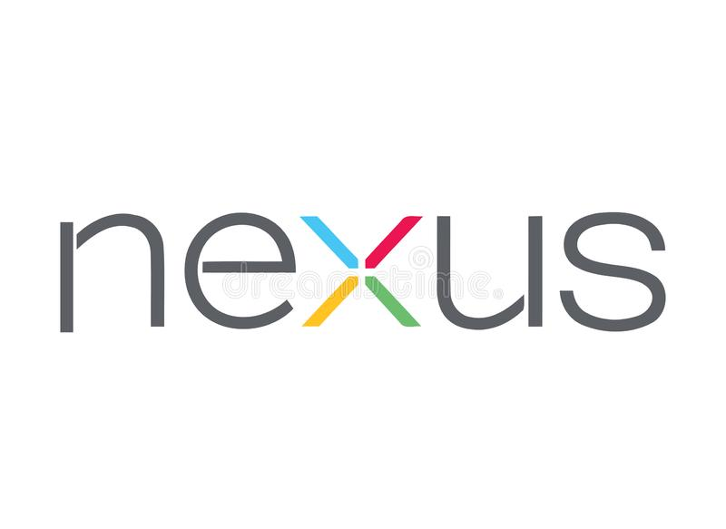 Google Nexusembleem stock illustratie