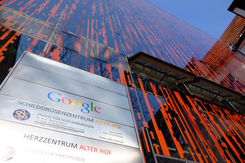 Google office munich royalty free stock photo