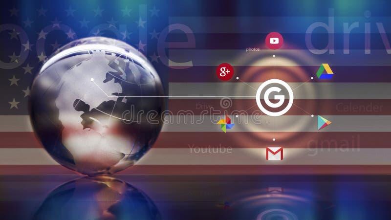 Google okręgu pojęcie ilustracji