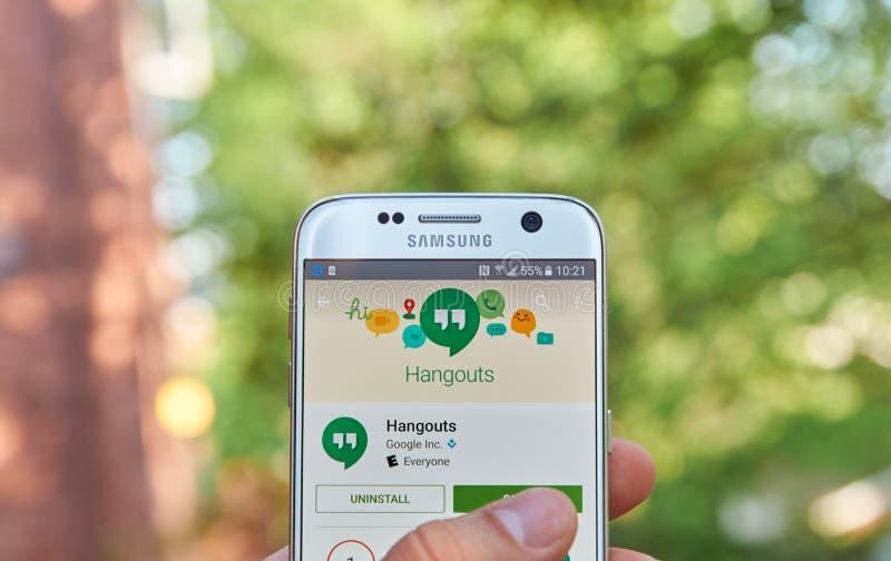 Google-Ontmoetingsplaatsen app royalty-vrije stock foto