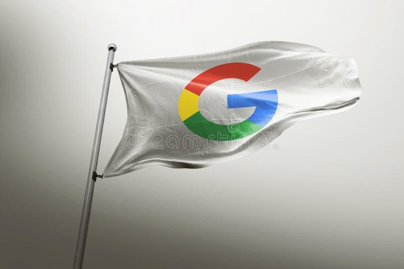 Google photorealistic chorągwiany artykuł wstępny royalty ilustracja
