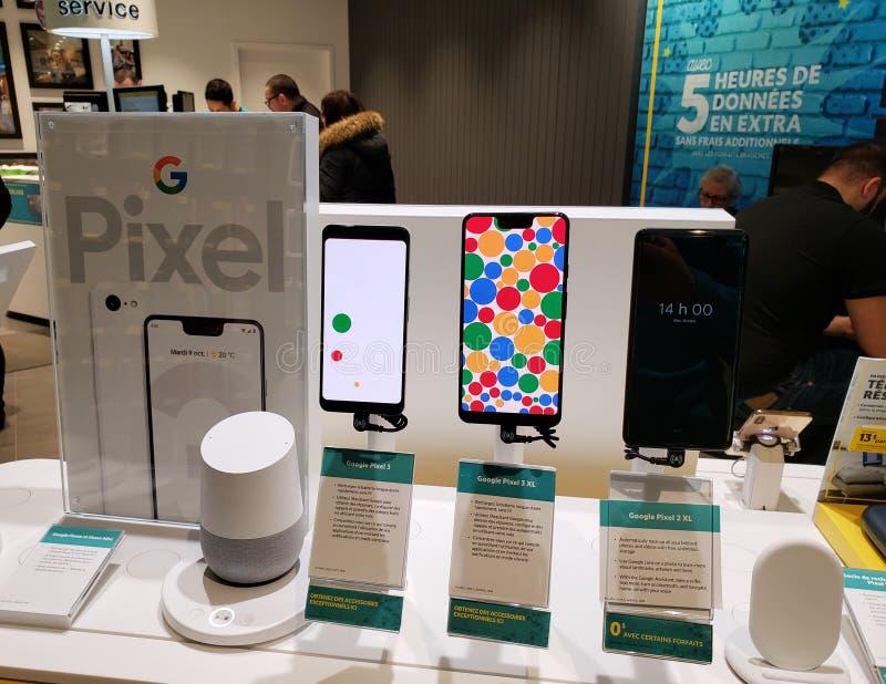 Google piksla telefony zdjęcie stock