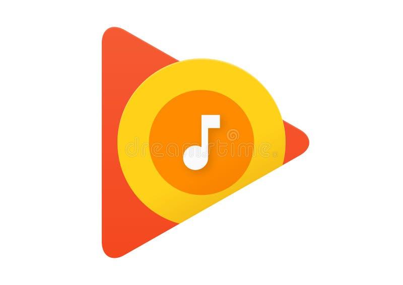 Google Play Music-Embleem vector illustratie