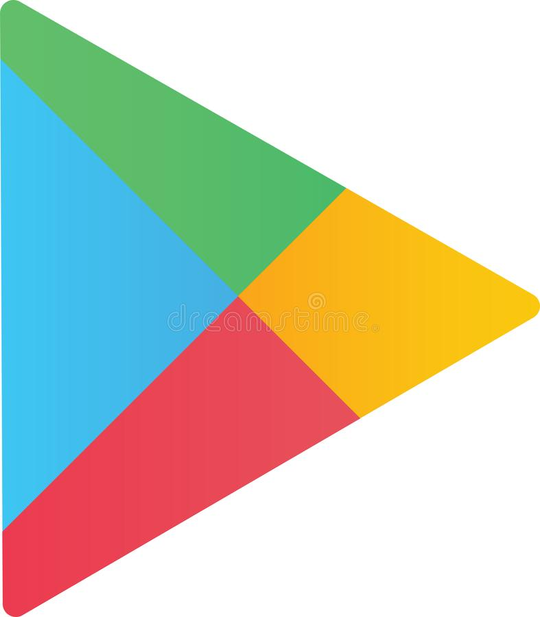 Editorial - Google Play logo. Google Play previously Android Market is a digital distribution service operated and developed by Google LLC royalty free illustration