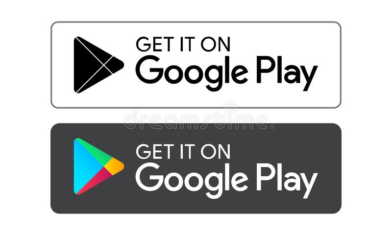 Google play store icon. S on white background - editable vector illustration stock illustration