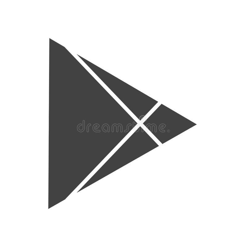 Google Play vector illustration