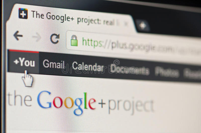 google plus royaltyfri foto