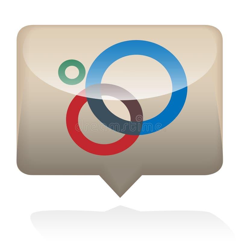 Google plus le graphisme social photos stock