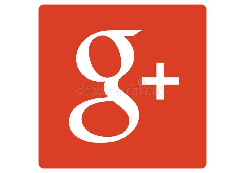 Google plus + Sociaal Media Embleem royalty-vrije illustratie