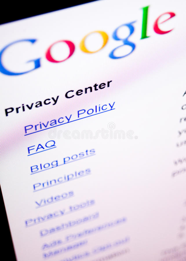 Google privacy stock images