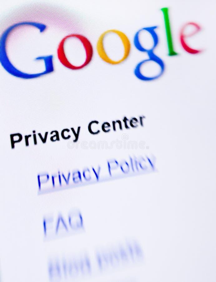 Google-Privatleben lizenzfreie stockfotografie