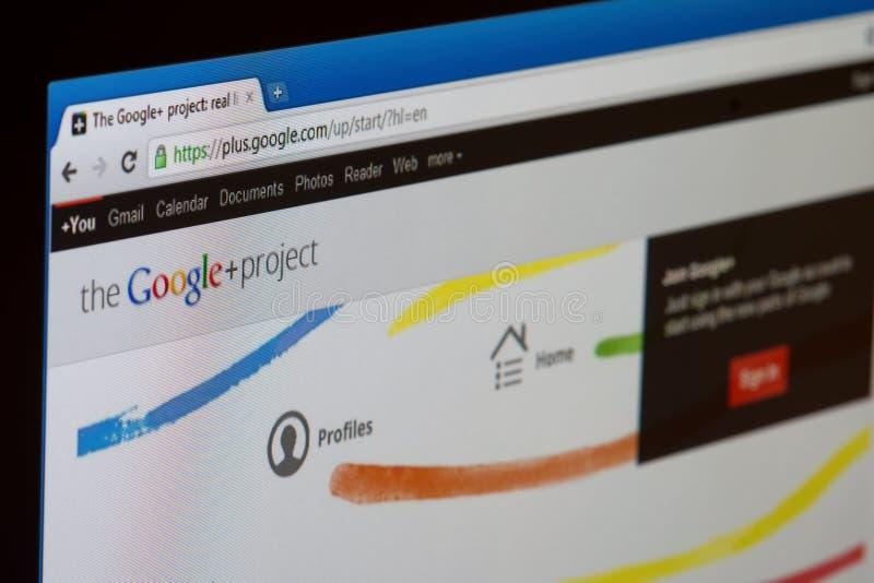 Google+ Project stock photo