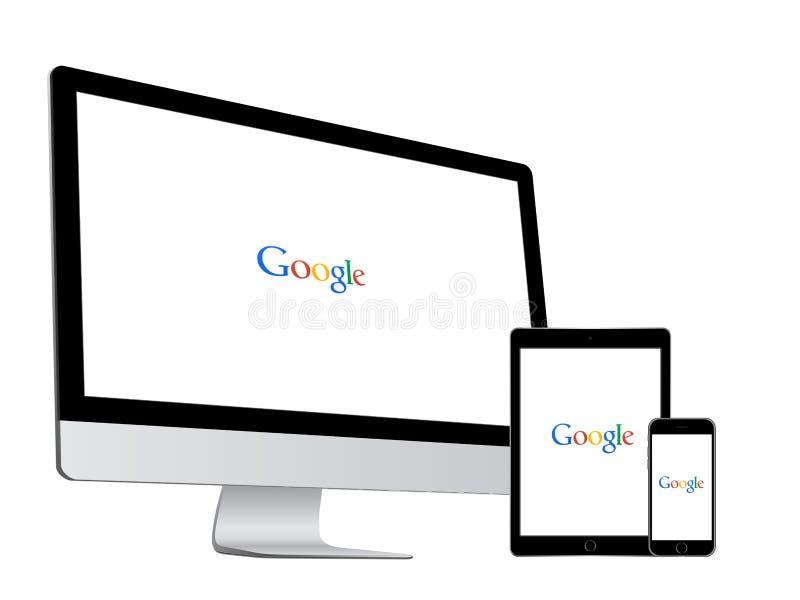 Google rewizja royalty ilustracja