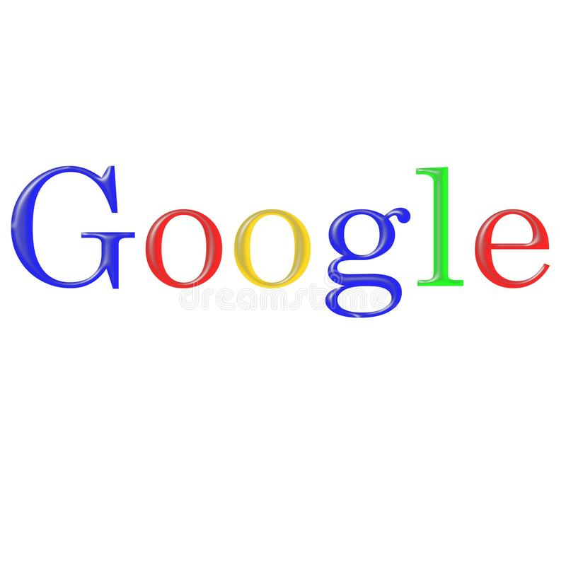 Sign search google in different fonts. Google search engine caption in different fonts family on white background can serve as a design for f shirt and other vector illustration