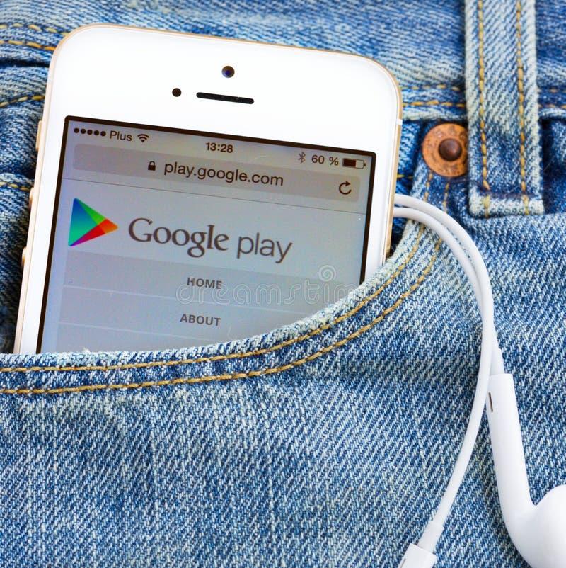 Google spielen lizenzfreie stockbilder