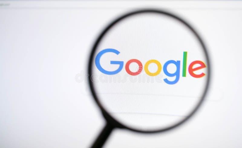 Google-Suche und -lupe stockfoto