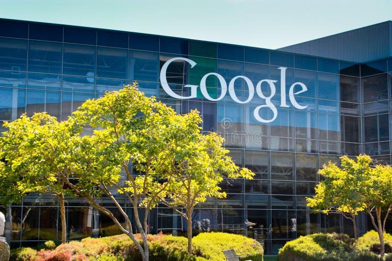 Google universitetsområde arkivbilder