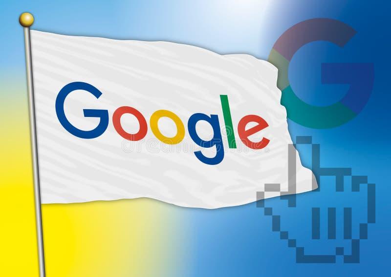Google-vlag, nieuw embleem 2015 vector illustratie