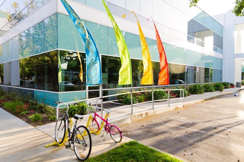 Googleplex - штабы Google стоковые фотографии rf