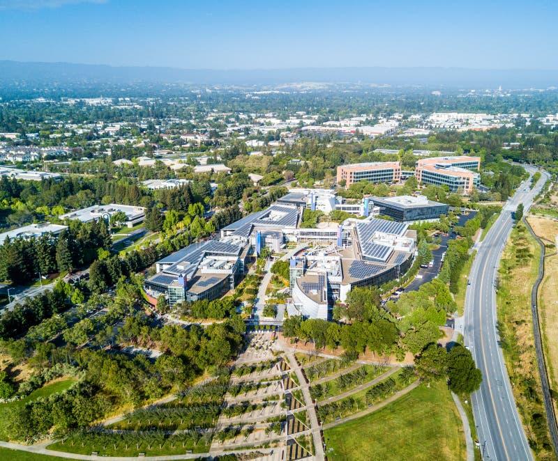 Googleplex -谷歌总部在加利福尼亚 库存图片