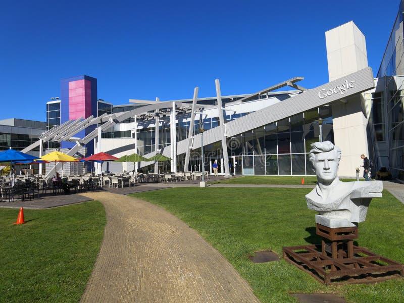 Googleplex courtyard stock photos
