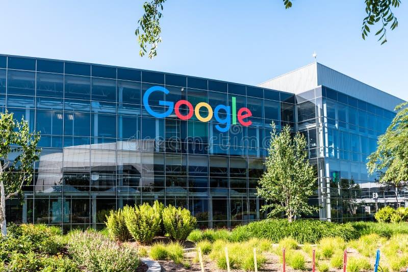 Googleplex - Google-Hoofdkwartier in Californië royalty-vrije stock fotografie