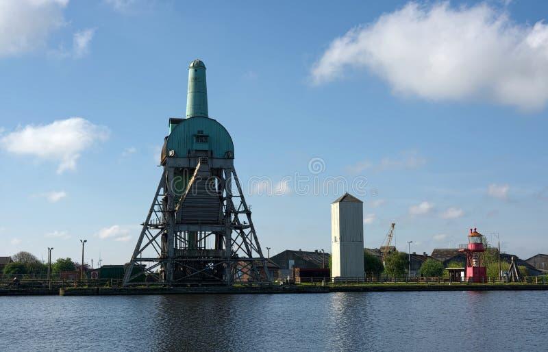Goole-Hafen, Süddock, Ostreiten von Yorkshire Gro?britannien stockbild