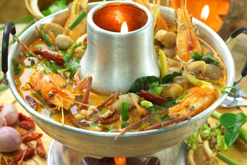 goong大虾汤辣汤姆yum 库存图片
