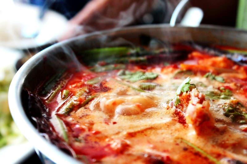 goong πικάντικο αρσενικό (ζώο) σούπας γαρίδων yum στοκ φωτογραφία με δικαίωμα ελεύθερης χρήσης