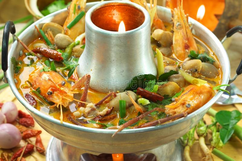 goong πικάντικο αρσενικό (ζώο) σούπας γαρίδων yum στοκ εικόνα