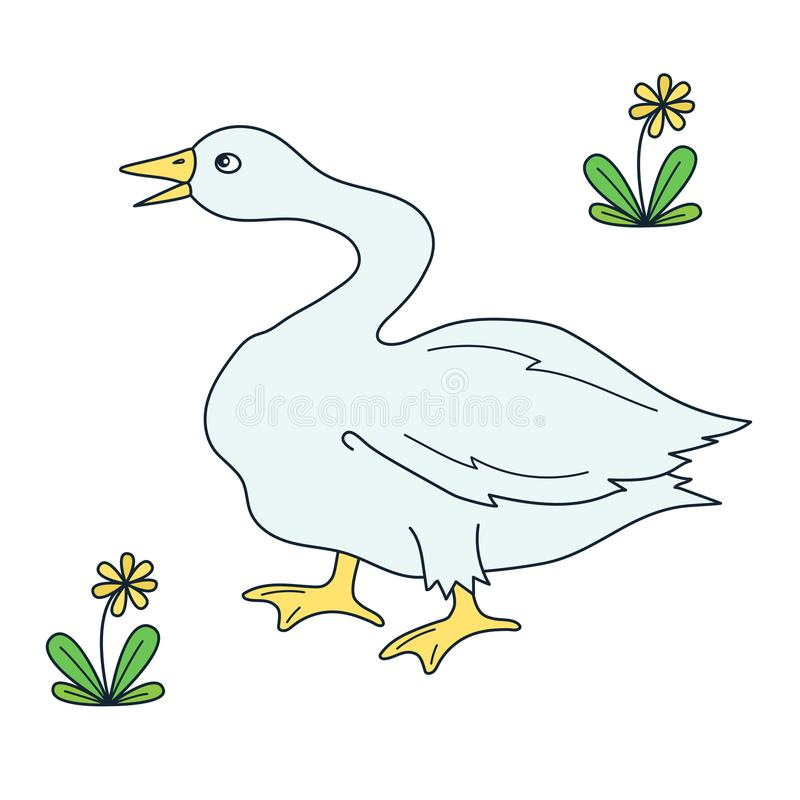 Free Goose Doodle Vector Icon Royalty Free Stock Photo - 104317545