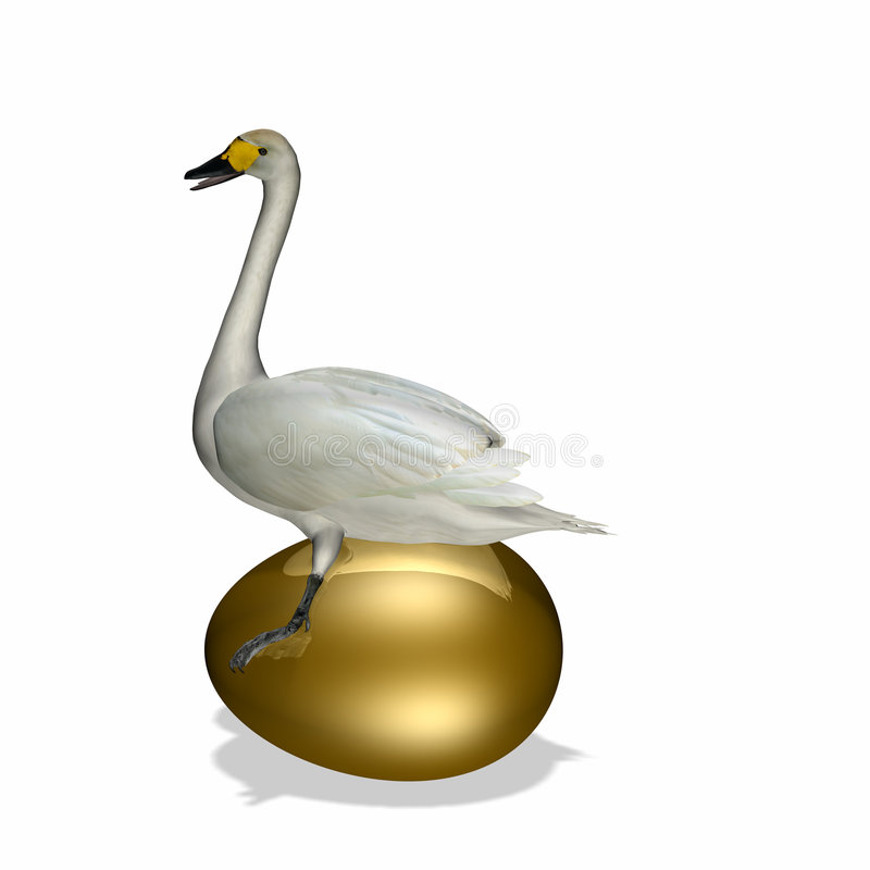 Free Goose Sitting On Golden Egg Royalty Free Stock Photo - 1970365