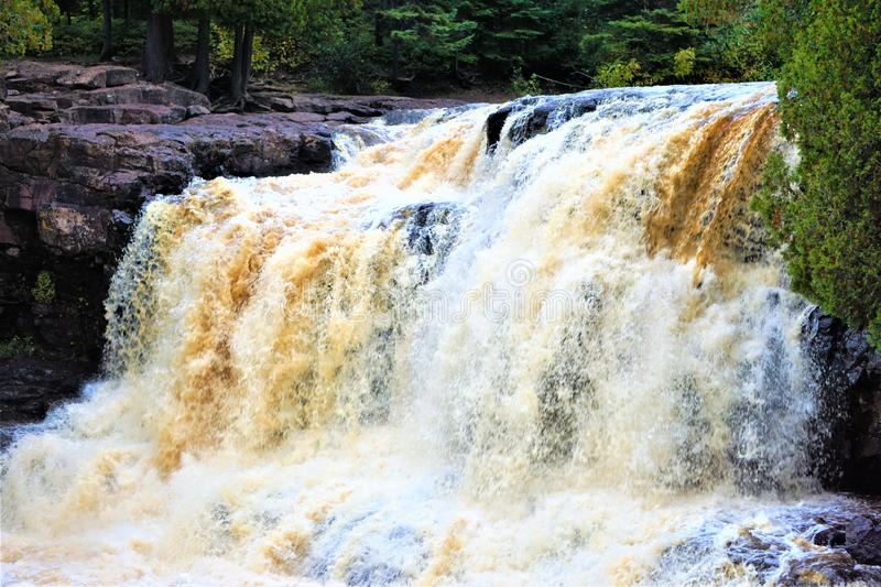 GOOSEBERRY FALLS SCENES LAKE SUPERIOR MN stock images