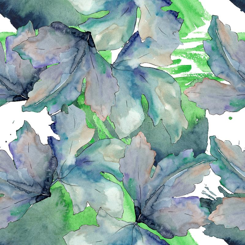 Gooseberry green leaves isolated. Watercolor background illustration set. Seamless background pattern. Gooseberry green leaves isolated. Watercolor background vector illustration