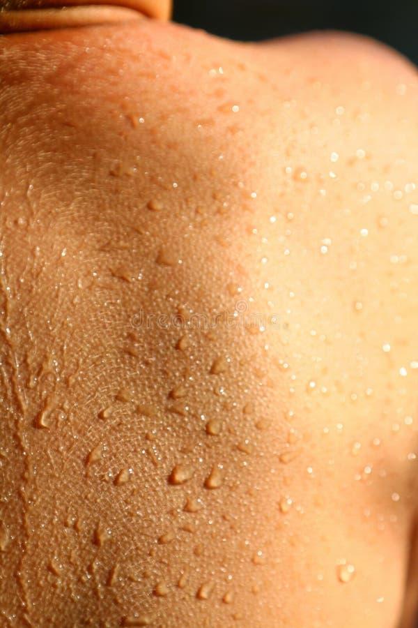 Goosebumps冷的湿皮肤 库存图片
