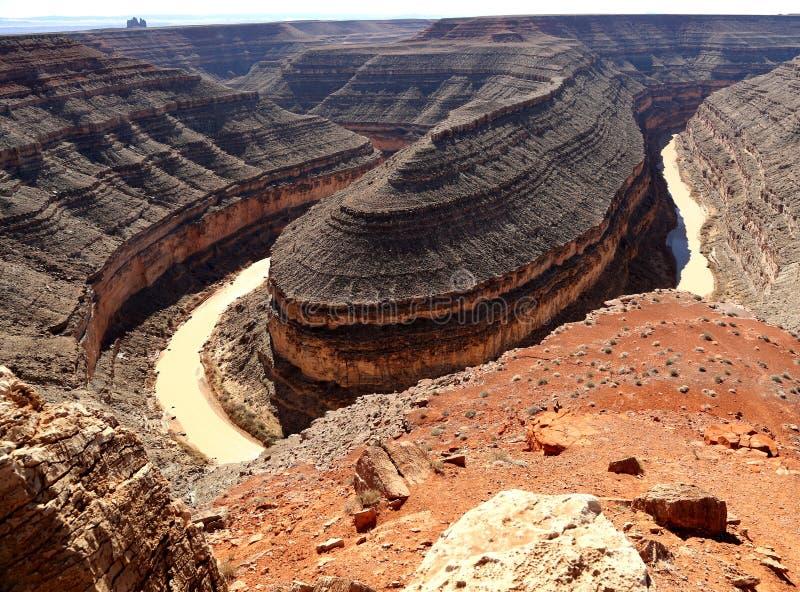 Goosenecks-Nationalpark, Utah lizenzfreie stockfotografie