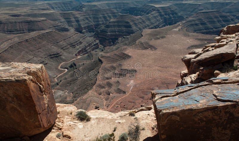 Goosenecks - Utah royaltyfria foton