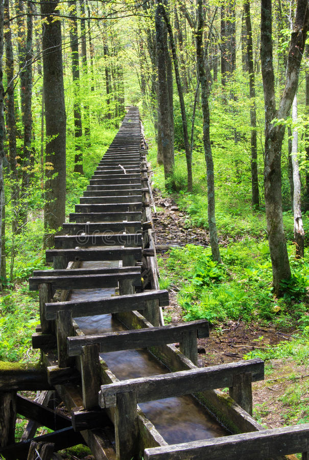 Goot bij Mabry-Molen, Blauw Ridge Parkway, Virginia, de V.S. stock afbeeldingen