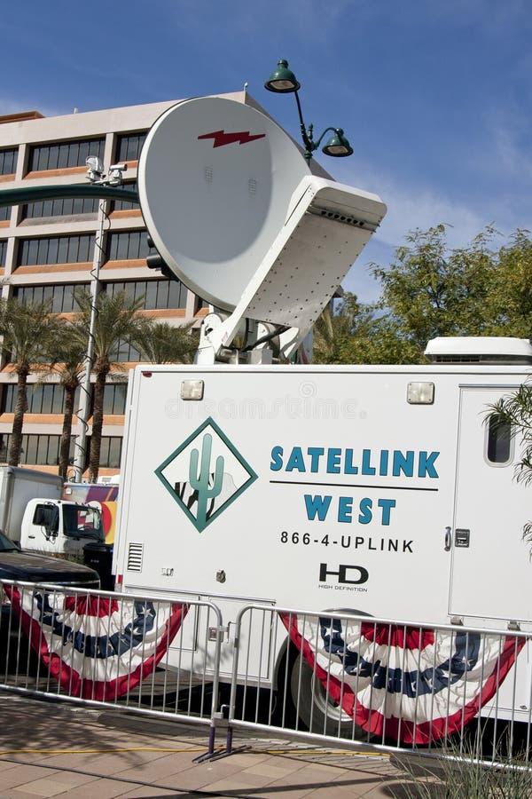Gop-Debatte-weltweite Fernsehnachrichten-Besatzungen stockfotografie