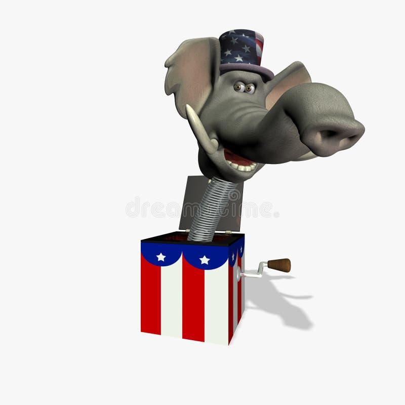 GOP nella casella 1 illustrazione vettoriale