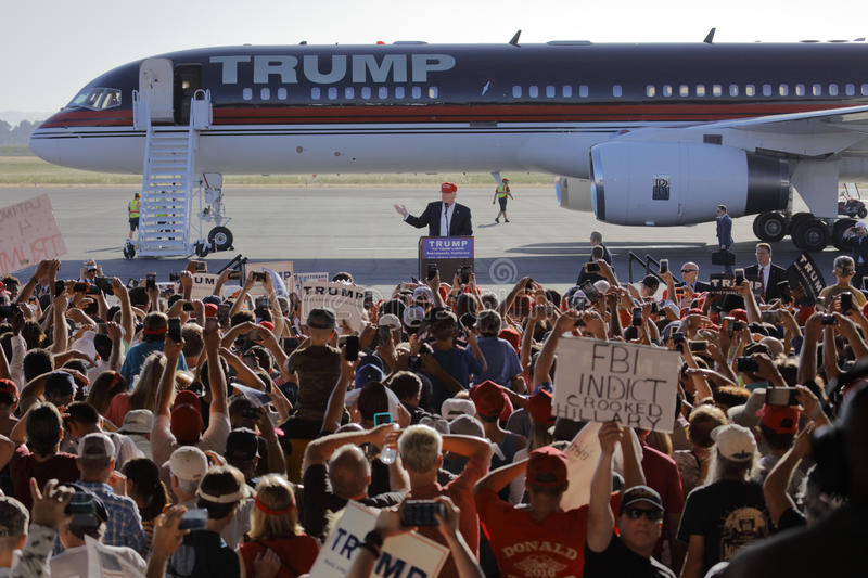 GOP Presidential Candidate Donald Trump Campaigns In Sacramento, California royalty free stock image