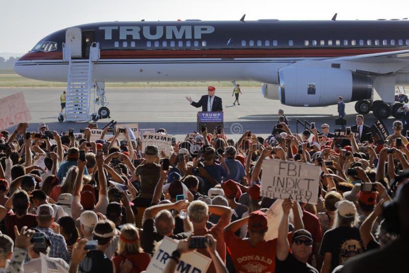 GOP Presidential Candidate Donald Trump Campaigns In Sacramento, California. SACRAMENTO, CA - JUNE 01, 2016: Republican Presidential candidate Donald Trump royalty free stock image